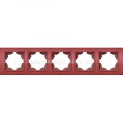 Рамка 5-я EL-BI Zena Colorline Бордовый