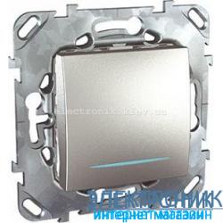 Schneider (Шнайдер) Unica алюминий выключатель с подсветкой