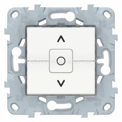 Выключатель для жалюзи (рольставней) с фиксацией, Белый, серия Unica New