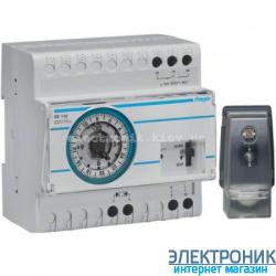 Сумеречное реле с суточным таймером Hager EE110 - 230В/16А, 1 ПК