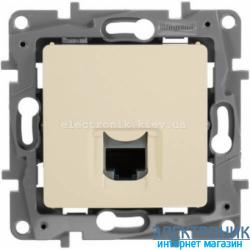 Розетка компьютерная RJ45 кат.5 UTP, 1-гнездо, слоновая кость - Legrand Etika