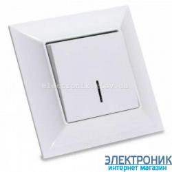 Neoline выключатель 1-кл. с подсветкой белый