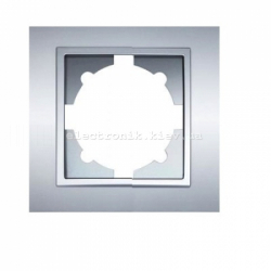 Рамка 1-я EL-BI Zena Silverline Серый