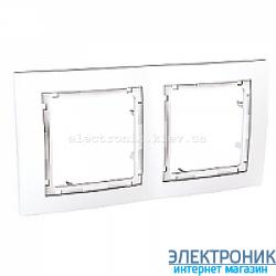 Рамка 2-я Schneider (Шнайдер) Unica Colors Белый