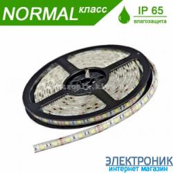Светодиодная LED лента в силиконе (теплый свет) 4.8 вт на метр (бабина 5 метров)