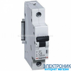 Автоматический выключатель Legrand RX3 - 1P 63А, С