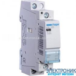 Контактор Hager ESL125 - 12В/25A, 1НО
