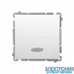 Выключатель BASIC перекрестный с подсветкой, белый