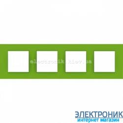 "Рамка четырехместная Schneider Electric Unica Quadro ""Natura"" Bio"