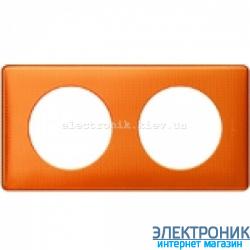 Рамка 2-постовая Legrand Celiane, прямоугольная, 161х82мм (оранж пунктум)