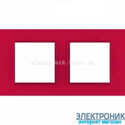 "Рамка двухместная Schneider (Шнайдер) Unica Quadro ""Natura"" Lipstick"