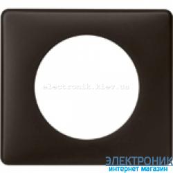Рамка однопостовая Legrand Celiane, прямоугольная, 90х82мм (черная перкаль)