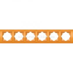 Рамка 6-я EL-BI Zena Colorline Оранжевый