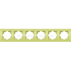 Рамка 6-я EL-BI Zena Colorline Оливковый