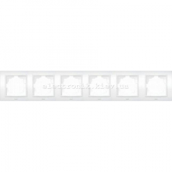 Рамка 6-я EL-BI Zena белый