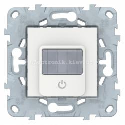 Датчик движения 2300Вт с ручн.упр. 3-х проводная схема, реле, Белый, серия Unica New