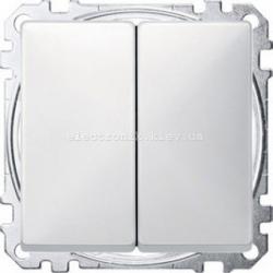 Выключатель 2-клавишный Merten System Design полярно-белый