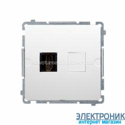 Розетка BASIC одинарний HDMI, белый