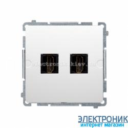 Розетка BASIC двойной HDMI, белый