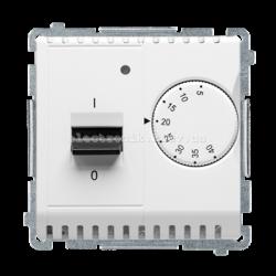 Терморегулятор BASIC для теплого пола со встроенным датчиком, белый