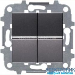 Выключатель 2-кл. универсальный проходной ABВ Zenit антрацит