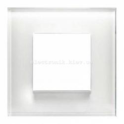 Рамка одинарная ABВ Zenit белое стекло