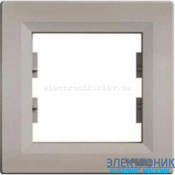 Рамка Schneider (Шнайдер) Asfora Plus 1-пост горизонтальная бронза