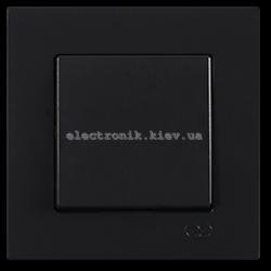 Eqona Выключатель 1-клав. черный