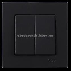 Eqona Выключатель 2-клав. черный