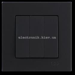 Eqona Выключатель 3-клав. черный