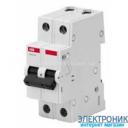 """Автоматический выключатель ABB Basic M (2 полюса, 6 Ампер, 4,5кА) категория """"С"""""""