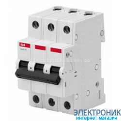 """Автоматический выключатель ABB Basic M (3 полюса, 6 Ампер, 4,5кА) категория """"С"""""""