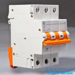 Автоматический выключатель Domus 6 kA, 16A, 3p, С