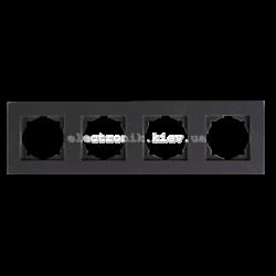 Eqona Рамка 4-я черная матовая
