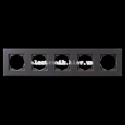 Eqona Рамка 5-я черная матовая