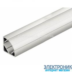 Профиль угловой  алюминиевый анодированный 2 метра цвет серебро.
