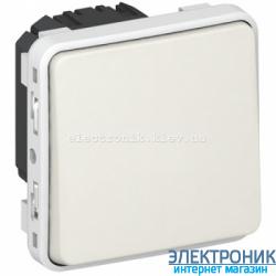 Выключатель кнопочный без фиксации с Н.О. Белый Legrand Plexo ip55