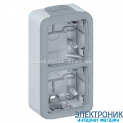 Коробка накладная двух местная вертикальная Серый Legrand Plexo ip55
