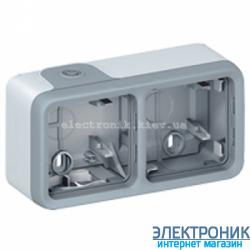 Коробка накладная двух местная Серый Legrand Plexo ip55