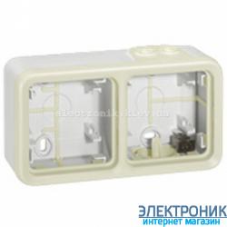 Коробка накладная двух местная Белый Legrand Plexo ip55