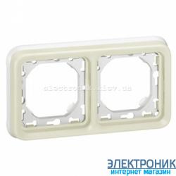 Рамка двухместная Белый Legrand Plexo ip55