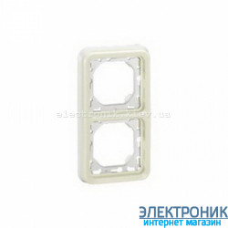 Рамка двухместная вертикальная Белый Legrand Plexo ip55