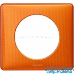 Рамка однопостовая Legrand Celiane, прямоугольная, 90х82мм (оранж пунктум)