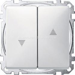 Выключатель  для рольставней Merten System Design полярно-белый