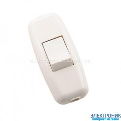 Выключатель навесной белый (бел. клав.) (50шт/уп)