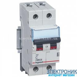 Автоматический выключатель Legrand TX3 -2P 10А, С