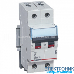 Автоматический выключатель Legrand TX3 -2P 32А, С