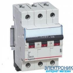 Автоматический выключатель Legrand TX3 -3P 6А, С