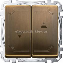 Выключатель  для рольставней Merten System Design Античная латунь