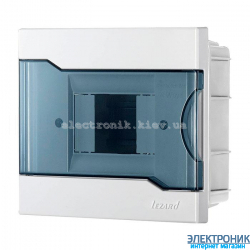 Бокс с прозрачной крышкой ЩРВ-П-4 для внутренней установки 4-х модульных устройств (30 шт)